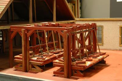 Modell eines Polierwerkes